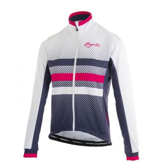 Rogelli ds winterjack dot- blauw / wit / roze