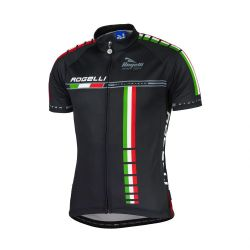 Wielershirts KM Rogelli Team Zwart 2XL